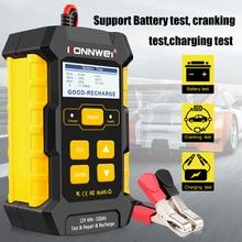 Konnwei kw510 bateria tester 12v 5a carregador de bateria carro reparação de pulso seco molhado agm gel chumbo ácido ferramenta reparo do carro