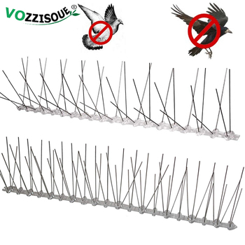Hot Sale Plastic Repeller Bird and Pigeon Spikes Deterrent Anti Stainless Steel Spike Strip Scarer for - discount item  52% OFF Garden Supplies