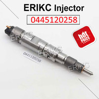 ERIKC 0445120258 Auto Fuel Engine Injector Assy 0 445 120 258 Common Rail Injector Accessory 0445 120 258 for Bosch Doosan