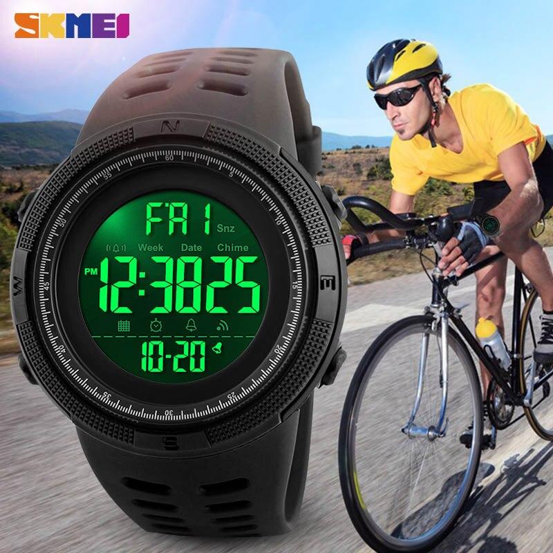 SKMEI Outdoor Sport Fashion Watch Men Multifunction Watches Alarm Clock Chrono 5Bar Waterproof Digital Watch reloj hombre