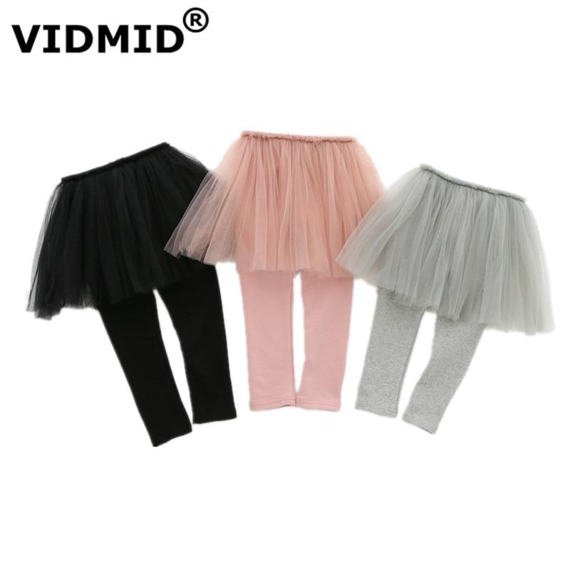 VIDMID Girls Leggings skirt clothing Skirt-Pants Kids Pants trousers Girl kids Leggings Trousers clothes lace pants 7065 02 1
