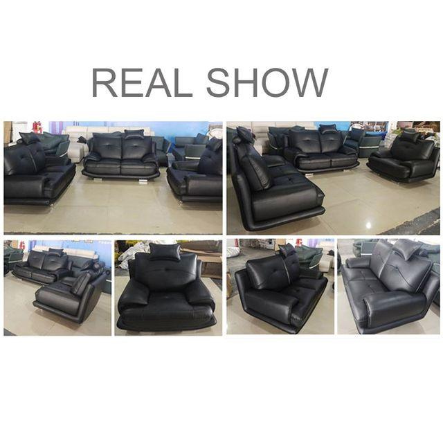 Karois Leather Living Room Furniture Set 5