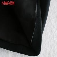 Tangada Fashion Women Solid Blackless Party Dress New Arrival Sleeveless Ladies Short Halter Dress Vestidos CE47 4