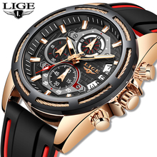 2019 LIGE New Mens Watches Top Luxury Br