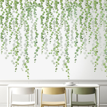 Plants Wall Stickers Green Leaves Wall Decals Wall Paper DIY Vinyl Murals for Bedroom Living room Kids room Wall Decoration plants wall stickers green leaves wall decals wall paper diy vinyl murals for bedroom living room kids room wall decoration