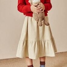 SUMCICO Autumn/winter children's sweet style girl's skirt corduroy cotton baby's
