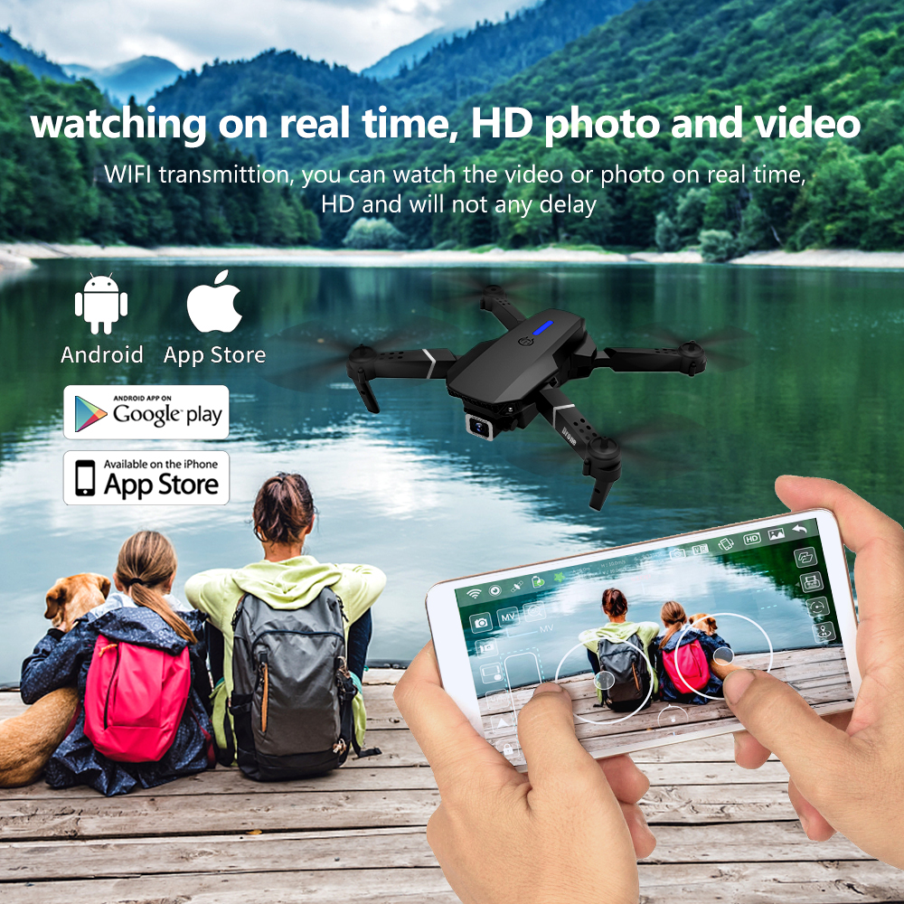 E525 PRO RC Quadcopter Profissional Obstacle Avoidance Drone Dual Camera 1080P 4K Fixed Height Mini Dron Helicopter Toy 6