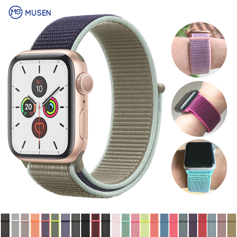 Sleek And Comfortable, Soft And Breathable, The Nylon Sport Strap Is Apple Series 1/2/3/4 Knitted Wristband 38 Mm 40mm42 Mm 44mm