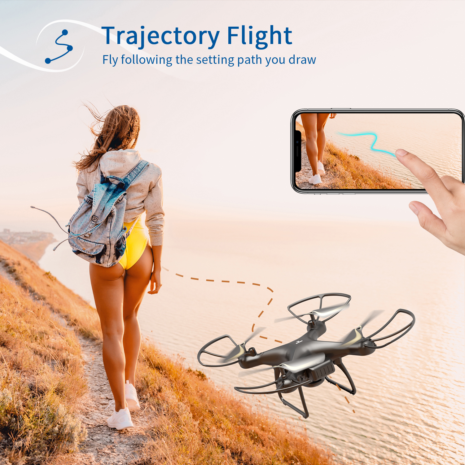 SNAPTAIN SP650 Drone 2-Axis Gimbal Camera 2K HD Video Camera Drone Voice Gesture Control Wide Angle Foldable Quadcopter RC dron 4