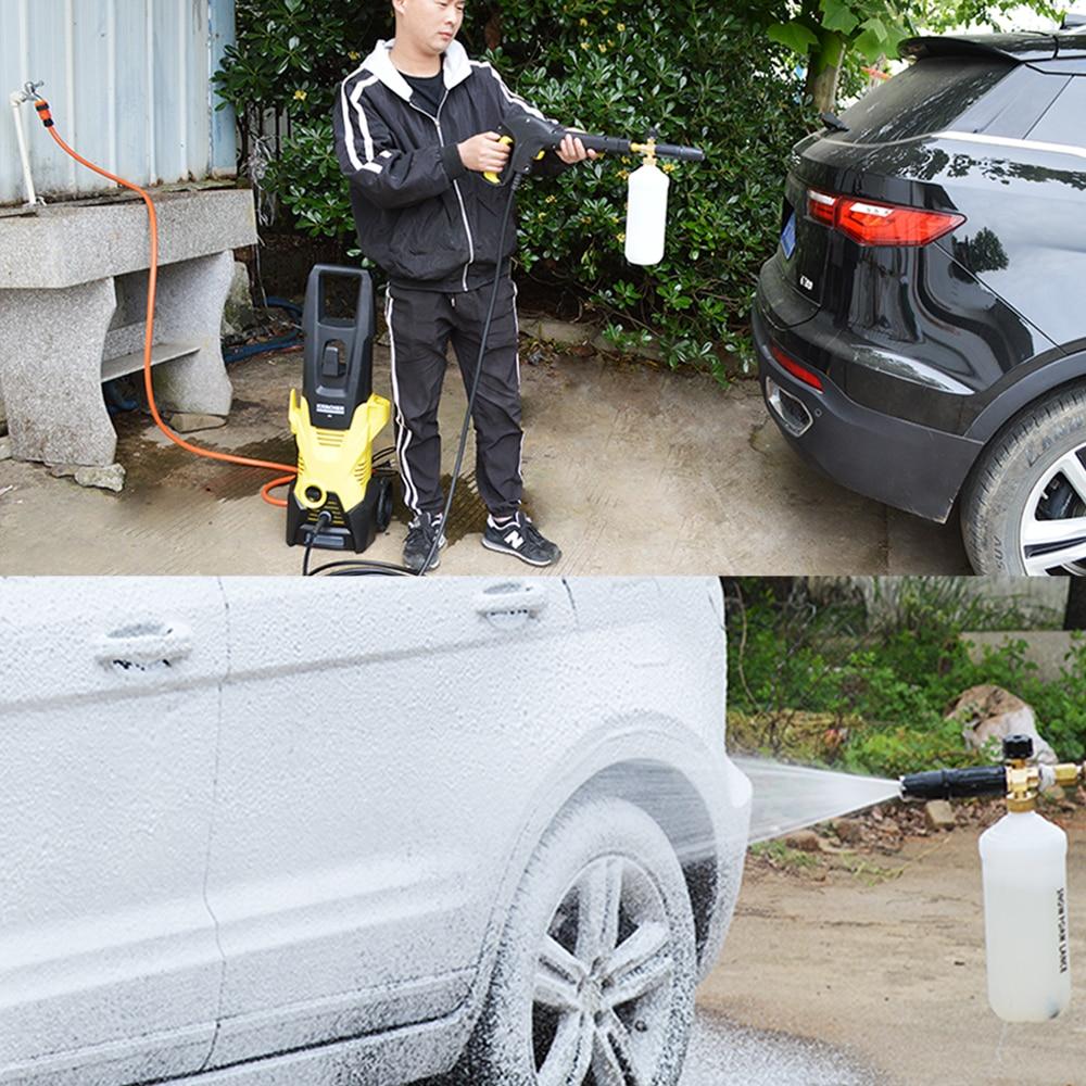 Foam Nozzle Snow Foam Lance Foam Bottle Sprayer for Karcher Bosch Interskol Elitech Nilfisk Huter Stihl Pressure Washer Car Wash 4