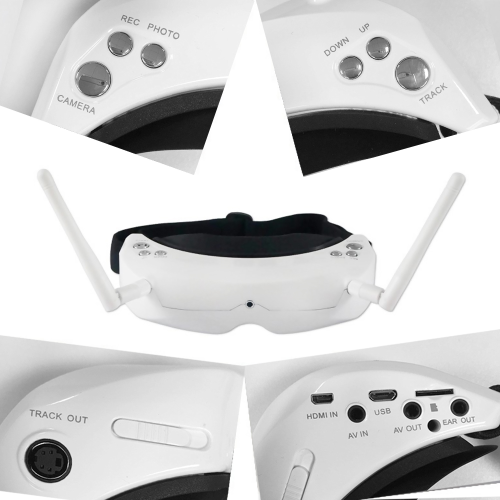 Skyzone SKY02S V+ 3D FPV Goggle/Video Glasses with 3D/2D Mode 48CH 5.8G Diversity Receiver Head Track/Camera for RC Quadcopter - 5
