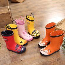 Bottes de pluie en caoutchouc pour enfants, chaussures imperméables, antidérapantes, à la mode, imprimées d'animaux mignons, pour garçons et filles, nouvelle collection 2020