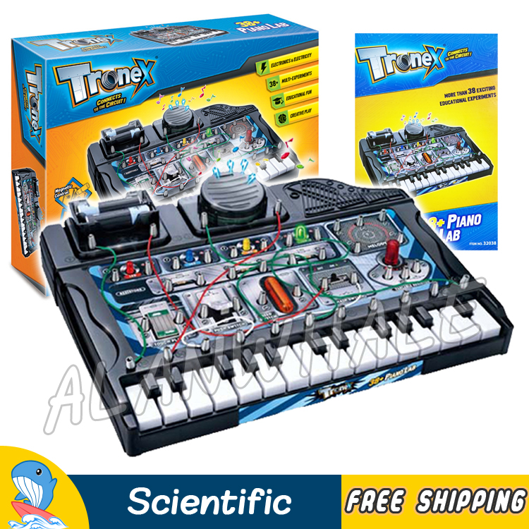 38 Multi Experiments Piano Lab Electrical Science Sets Scientific Kits Brain Physics DIY Model Building Education Boys Toys