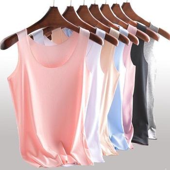 2020 popularna odzież damska slim sportowe kamizelki bez śladu duże rozmiary zwężane koszule z systemem kamizelki fitness jogging kamizelki tanie i dobre opinie nidye WOMEN