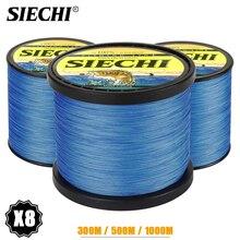 SIECHI 8 Strands 300M 500M 1000M 20-88LB Blue Braided Fishing Line Sea Saltwater Carp Fishing Weave Extreme 100% PE aqua pe ultra extreme blue 100m 1 50mm 104 00kg