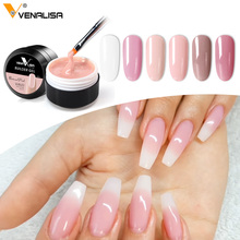 Thick Builder Gel Nails Pink VENALISA New 15ml Finger Nail Extension UV LED Gel Nail Cover Pink Camouflage Soak Off Jelly Gel
