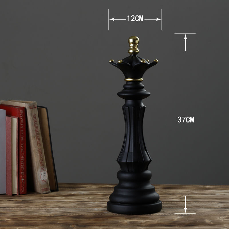 1Pcs Resin Chess Pieces Board Games Accessories International Chess Figurines Retro Home Decor Simple Modern Chessmen Ornaments-2