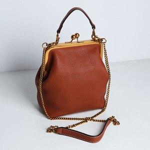 Image 4 - คุณภาพสูงPUหนังผู้หญิงกระเป๋าถือแฟชั่นVintageออกแบบกระเป๋ากระเป๋าโซ่ไหล่Crossbodyกระเป๋า