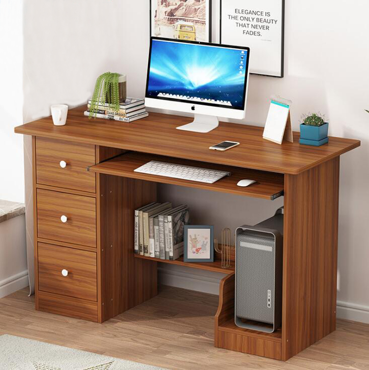 EU RU Free Shipping Home Office Desktop Computer Desk With Drawer Keyboard Tray Large Table Student Writing Table Work Furniture