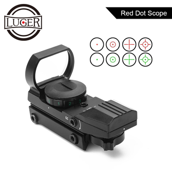 Riflescope 11/20mm Rail Holographic Red Dot Sight 4 Reticle Tactical Scope Collimator Reflex Optics Sight Hunting Red Dot Scope цена 2017