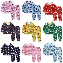 Sleepwear Thermal-Underwear Long Winter Cartoon Pajama-Set Trousers Thickening-Suit Velvet