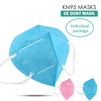 (re-listed in 3 days)NEW pink blue protective face mask 5-layers protection dust mask Respirator anti-pollution mask image