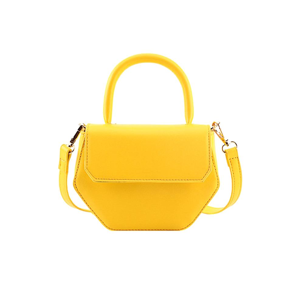 Women Crossbody Lady Purse Shoulder Messenger Bag Faux Leather Fashion Hexagon Handbags Mini Phone Pouch PU Purse