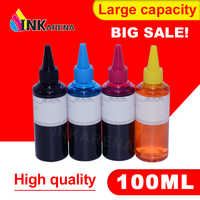 INKARENA 4 Color Dye Refill Ink Replacement For HP Kit 100ML Bottle ink for Epson Premium for Canon Inkjet Printer For Brother