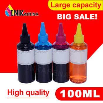 INKARENA 4 Color Dye Refill Ink Replacement For HP Kit 100ML Bottle ink for Epson Premium for Canon Inkjet Printer For Brother - DISCOUNT ITEM  35% OFF All Category