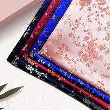 Tissus Imitation soie brocart, 50x70cm, motif Jacquard au mètre, couture de robes Cheongsam, matériel de bricolage