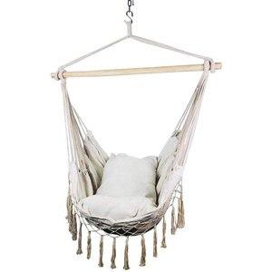 Макраме шезлонг висячая веревка гамак стул крыльцо качели сиденье для внутреннего и наружного сада патио двора спальни
