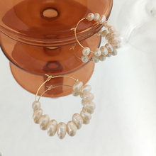 Серьги кольца monlansher из натурального жемчуга в стиле барокко