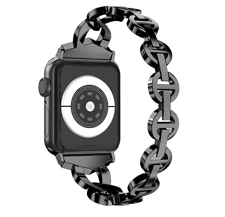 Bracelet pour Apple bracelet de montre 40mm 38mm 44mm 42mm femmes diamant bracelet de montre pour iWatch ceinture série 4 3 2 1 bracelet en acier inoxydable
