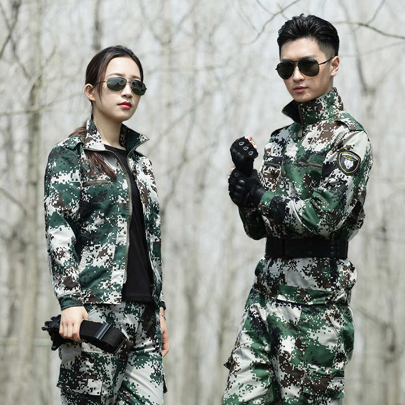 Woodland Camouflage Hunting Clothes Ghillie Suit Men Women Military Uniforms Tactical Combat Hunting Jacket Pants Fishing Cloth