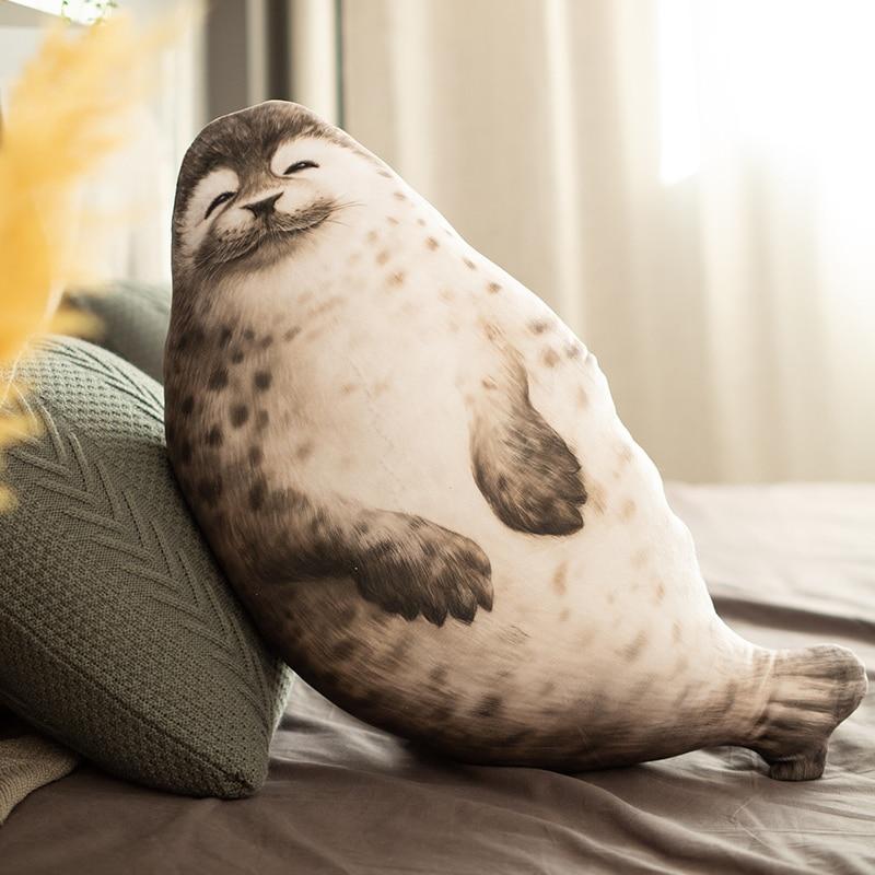 Kawaii Hot New Large Soft Lion Plush Toy Cute Sea World Animal Seal Stuffed Doll Baby Sleeping Pillow Kids Girls Gift Home Decor