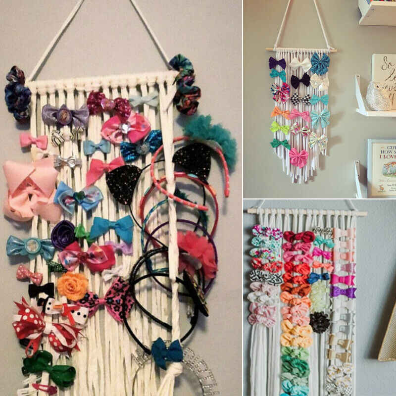 Nieuwe Meisjes Kids Hair Bow Holder Hanger Haar Clips Organizer Home Decor Us