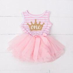 Платье-пачка для девочек на лето и осень, для крестин, для младенцев, малышей 1, 2, 3 лет, платье на день рождения, Повседневное платье с длинным...