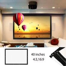 Легкий сложенный проекционный экран проектор экран фильм экран проектор ткань экран образование школа бизнес 16:9/4:3