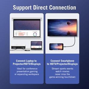 Image 3 - Câble USB C HDMI 4K Type C vers HDMI adaptateur Thunderbolt 3 pour Huawei P40 Mate 30 Pro MacBook Pro Air ipad câble usb c