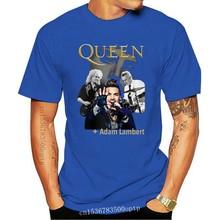 Queen And Adam Lambert Rhapsody Concert Tour 2020 T Shirt Men Women Black Men Loose Size Top Tops TEE Shirt