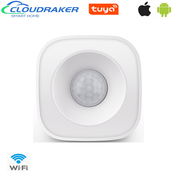 Cloudraker Tuya WiFi PIR Motion Sensor Wireless Infrared Detector Security Burglar Alarm Sensor Smart life APP Control