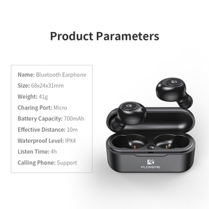 Image 5 - FLOVEME TWS 5.0 Bluetooth Wireless Headphones For iPhone Samsung Mini Wireless Bluetooth Earphone 3D Stereo Sound Earbud Headset