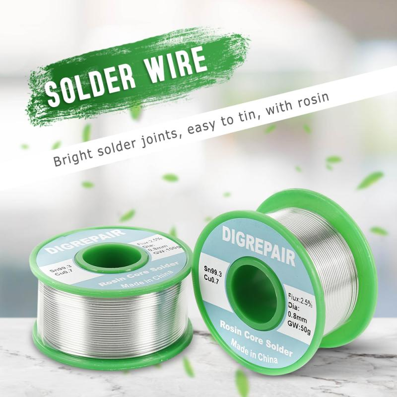 0.6/0.8/1.0MM Tin Lead Tin Wire Melt Rosin Core Solder Soldering Wire Roll Lead free Solder Wire for Electrical Solder RoHs|Welding Wires| |  - title=