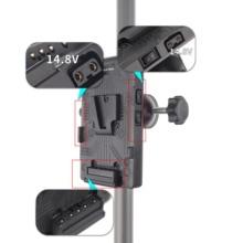 FOTGA BP Pin Lưng Adapter V Khóa Gắn Tấm Cho Sony D Tập DSLR Rig Bên Ngoài