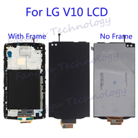 Original LCD Display For LG V10 H968 H960 H900 VS990 LCD Display+ Touch Screen Digitizer Kit Phone Parts with Frame+tool