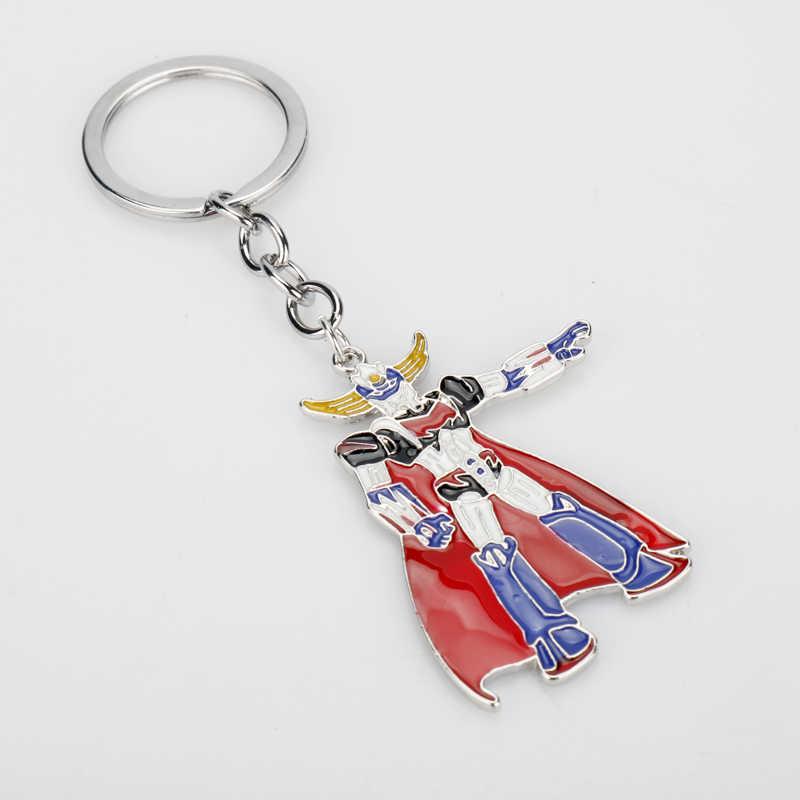 การ์ตูนอะนิเมะ Trinket UFO Grendizer Mazinger Z หุ่นยนต์ Key เคลือบโลหะพวงกุญแจผู้หญิงผู้ชายรถ Keyholder Key Ring ของขวัญ