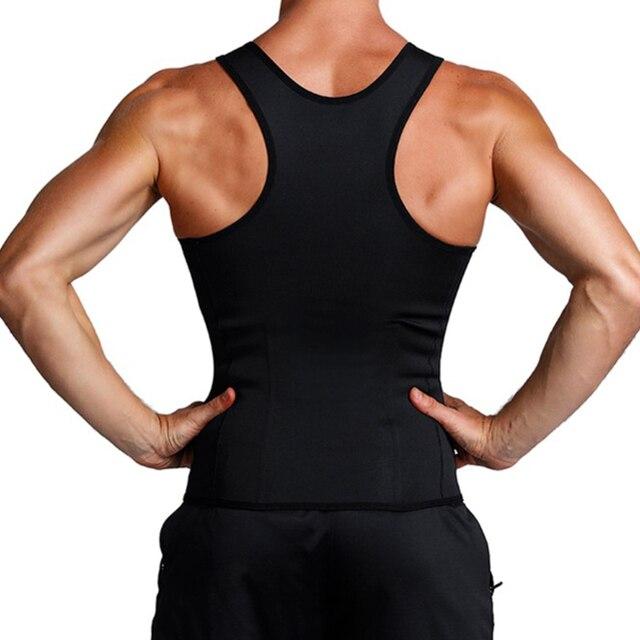 FDBRO Man Shaper Male Body Modeling Belt Tummy Slimming Strap Fitness Sweat Shapewear Waist Trainer Cincher Corset 2
