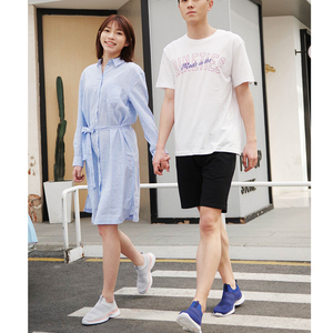 Image 5 - Xiaomi Mijia Youpin ULEEMARK Lightweight Walking Couple Casual Shoes Flying Woven Upper One piece Sock Breathable Fashion Man