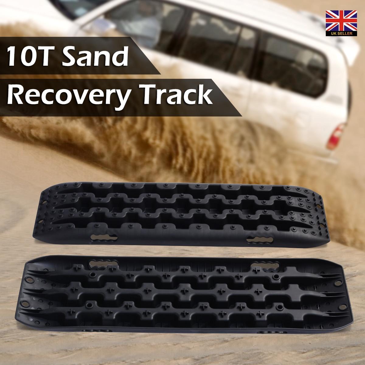 2 adet siyah kurtarma kurulu kum çamur kar parçaları lastik merdiveni için Fit off road aracı araba kurtarma parçaları 106x30x5 cm