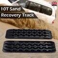 2 pces preto placa de recuperação areia lama neve trilhas pneu escada apto para fora da estrada veículo carro recuperação faixas 106x30x5 cm